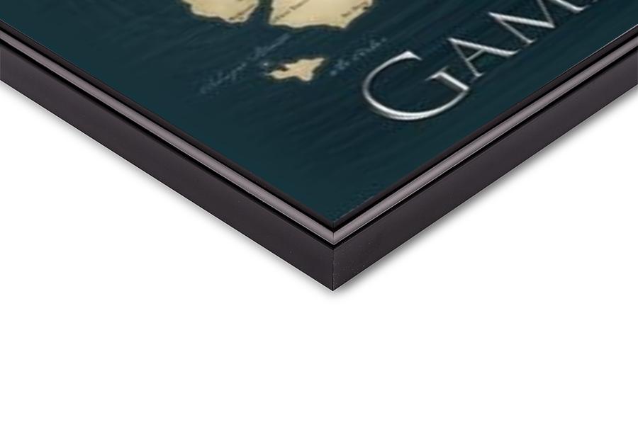 Juliste Game of Thrones kartta