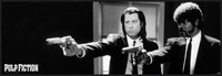 Pulp Fiction - b&w guns Kehystetty laminoitu juliste