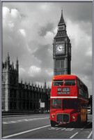 London red bus Kehystetty laminoitu juliste