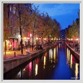 Red Light District in Amsterdam Kehystetty laminoitu juliste