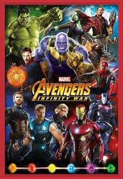 Avengers: Infinity War – Characters Kehystetty laminoitu juliste