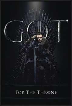Game of Thrones - Jon For The Throne Kehystetty laminoitu juliste