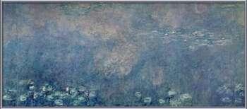 Waterlilies - Two Weeping Willows Kehystetty laminoitu juliste