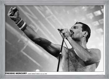 Kehystetty juliste Freddie Mercury - Wembley 1984