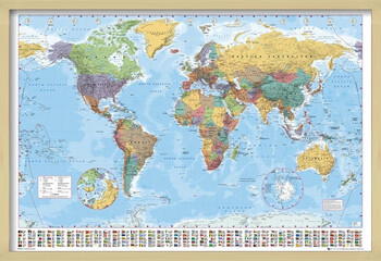 Kehystetty juliste World Map - Political