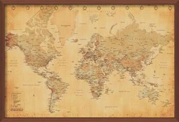 Kehystetty juliste World Map - Antique Style