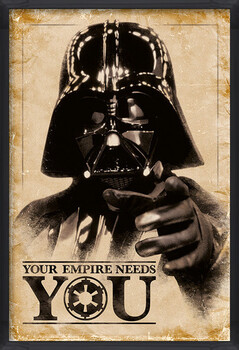 Kehystetty juliste Star Wars - Your Empire Needs You