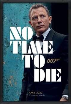 Kehystetty juliste James Bond - No Time To Die - Azure Teaser