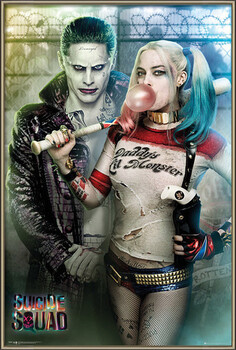 Kehystetty juliste Suicide Squad - Joker and Harley Quinn