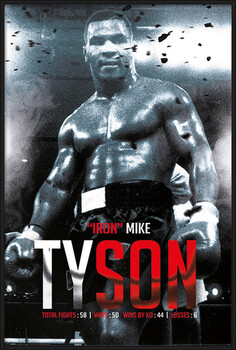 Kehystetty juliste Mike Tyson - Boxing Record