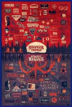 Kehystetty juliste Stranger Things - The Upside Down