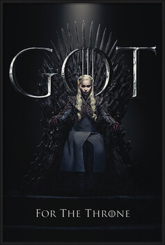 Kehystetty juliste Game Of Thrones - Daenerys For The Throne