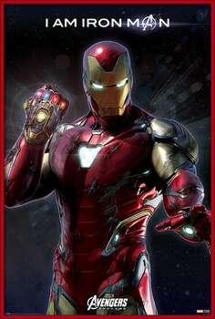 Kehystetty juliste Avengers Endgame - I Am Iron Man