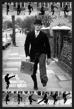 Kehystetty juliste Monty Python - the ministry of silly walks