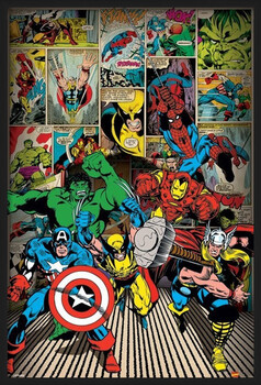 Kehystetty juliste MARVEL COMICS - here come