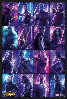 Kehystetty juliste Avengers: Infinity War - Heroes