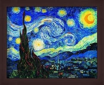 Kehystetty juliste The Starry Night, June 1889