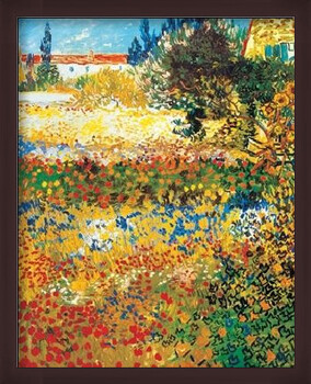 Kehystetty juliste Flowering garden, 1898