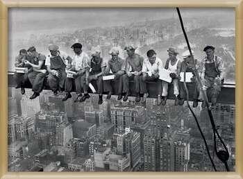Kehystetty juliste Lunch on a skyscraper