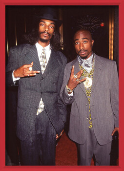 Kehystetty juliste Snoop Dogg & Tupac - Suits