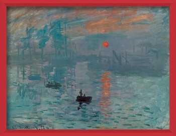 Kehystetty juliste Impression, Sunrise - Impression, soleil levant, 1872