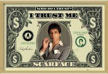 Kehystetty juliste SCARFACE - dollar