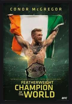 Kehystetty juliste Conor McGregor - Featherweight Champion
