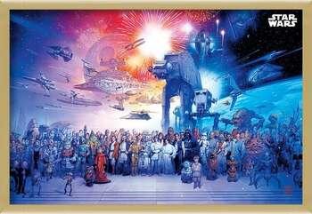 Kehystetty juliste Star Wars - Universe