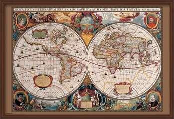 Kehystetty juliste World Map - 17th Century