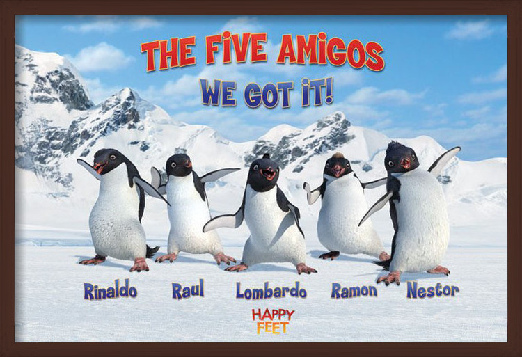 Juliste  HAPPY FEET - the five amigos