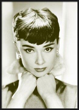 Juliste Audrey Hepburn - sepia