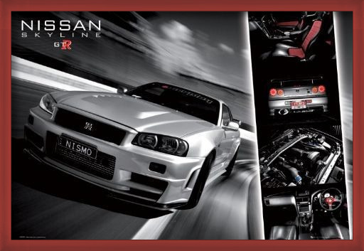 Juliste  Easton - Nissan skyline gtr