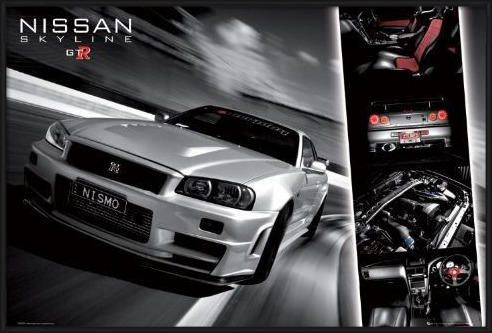 Juliste  Easton - Nissan skyline gtr