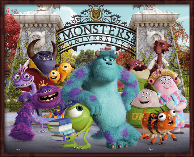 Juliste  MONSTERS UNIVERSITY - cast