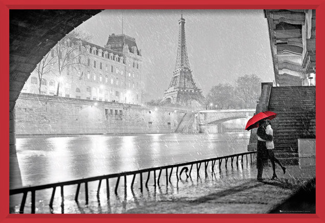 Juliste  Pariisi - Eiffel tower kiss