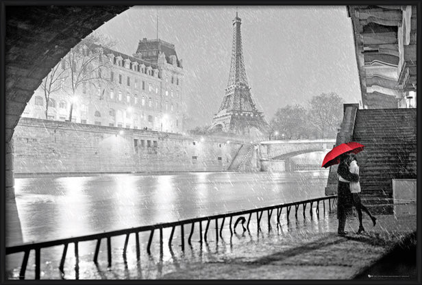 Juliste  Pariisi - Eiffel tower kiss