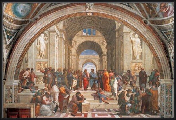 Raphael Sanzio - The School of Athens, 1509 Taidejuliste