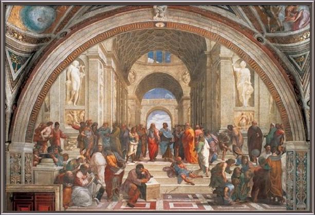 Raphael Sanzio - The School of Athens, 1509 Taidejuliste