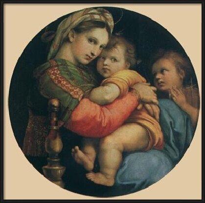 Raphael Sanzio - Madonna della seggiola, 1514 Taidejuliste
