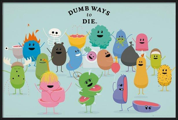 Juliste  Dumb Ways to Die - Characters