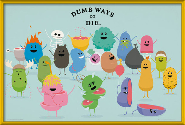 Juliste Dumb Ways to Die - Characters