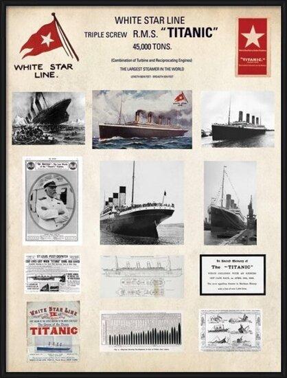 Titanic - Collage Taidejuliste