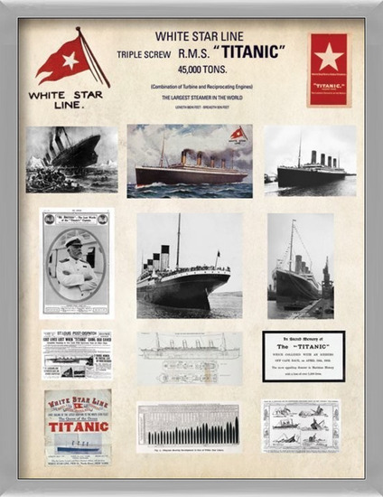 Titanic - Collage Taidejuliste