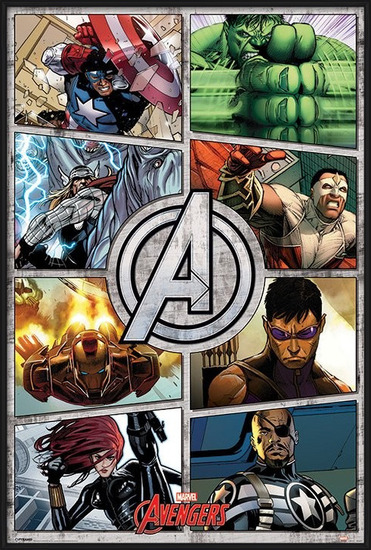 Juliste  The Avengers - Comic Panels