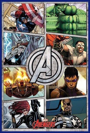 Juliste  The Avengers - Comic Panels
