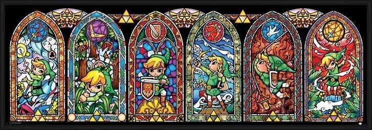 Juliste The Legend Of Zelda - Stained Glass