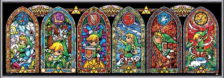 Juliste The Legend Of Zelda - Stained Glass