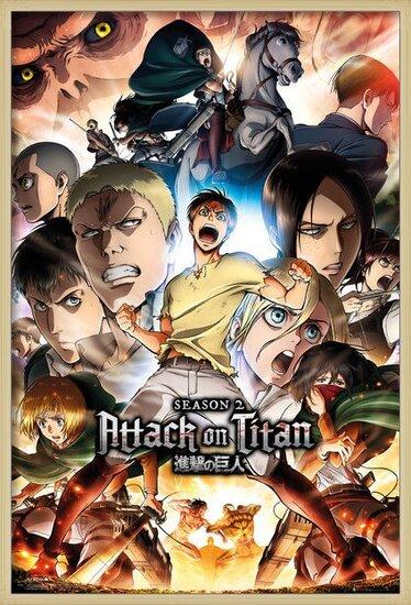 Juliste  Attack on Titan (Shingeki no kyojin) - Season 2 Collage Key Art