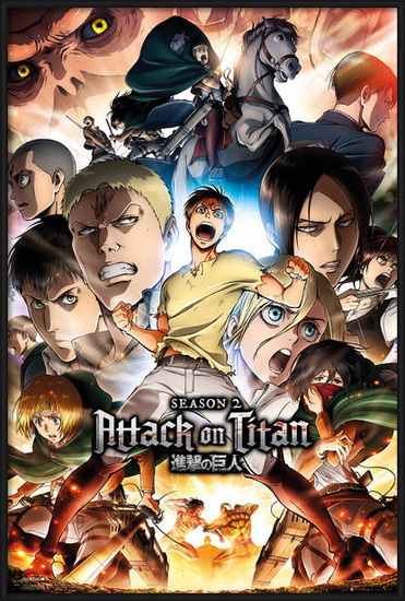 Juliste  Attack on Titan (Shingeki no kyojin) - Season 2 Collage Key Art