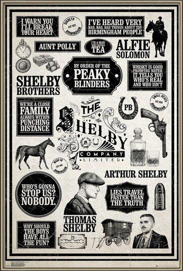Juliste  Peaky Blinders - Infographic